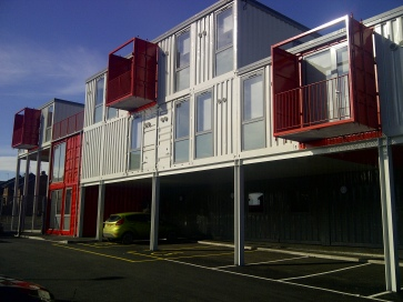 "(The SES ""Container City"" incubation facility for social enterprise in Sunderland)"