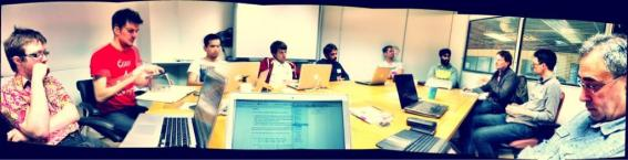 (The discussion group at the #SmartHack event in Birmingham)