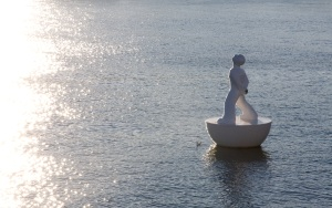 (The thoughtful statue floating in Barcelona's docks that I use as the header image for this blog)