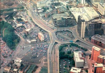 (Photo of Masshouse Circus, Birmingham, before its redevelopment, by Birmingham City Council)