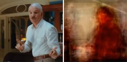 (The image on the right was re-created from an MRI scan of the brain activity of a subject watching the film shown in the image on the left. By Shinji Nishimoto, Alex G. Huth, An Vu and Jack L. Gallant, UC Berkley, 2011)