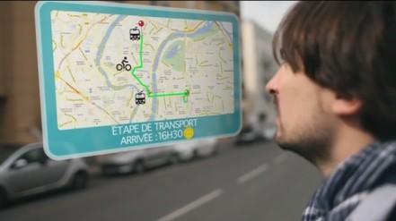 (Optimod's vision for integrated, predictive mobile, multi-modal transport information)